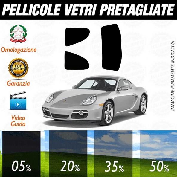 Porsche Cayman S dal 2006 ad OGGI Pellicole Oscuramento Vetri Auto Pre Tagliate a Misura