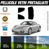 Porsche Cayman S 06-09 Pellicole Oscuramento Vetri Auto Pre