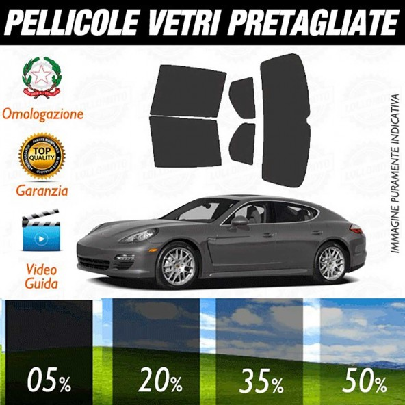 Porsche Panamera dal 2010 al 2013 Pellicole Oscuramento Vetri Auto Pre Tagliate a Misura