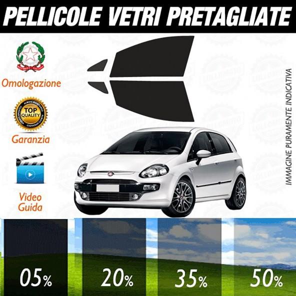 Fiat Grande Punto 5P dal 2006 ad OGGI Pellicole Oscuramento Vetri Anteriori Auto Pre Tagliate a Misura