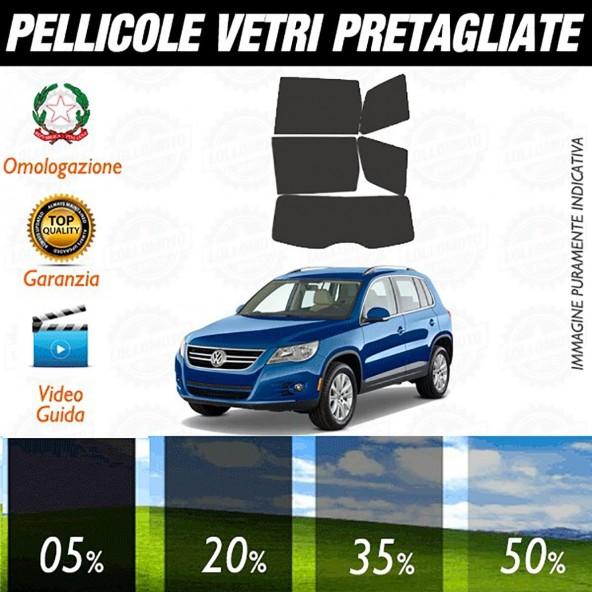 Volkswagen Tiguan dal 2009 al 2010 Pellicole Oscuramento Vetri Auto Pre Tagliate a Misura