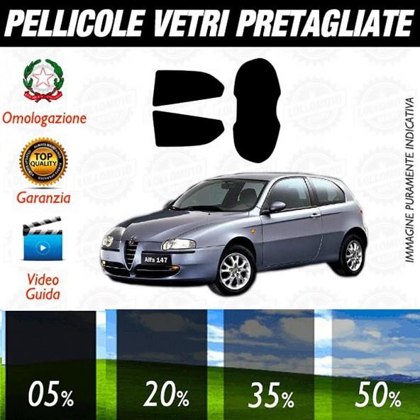 Alfa Romeo 147 3P dal 2006 ad OGGI Pellicole Oscuramento Vetri Posteriori Auto Pre Tagliate a Misura