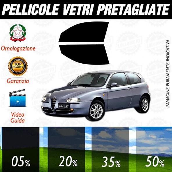 Alfa Romeo 147 3P 06-16 Pellicole Oscuramento Vetri Anteriori