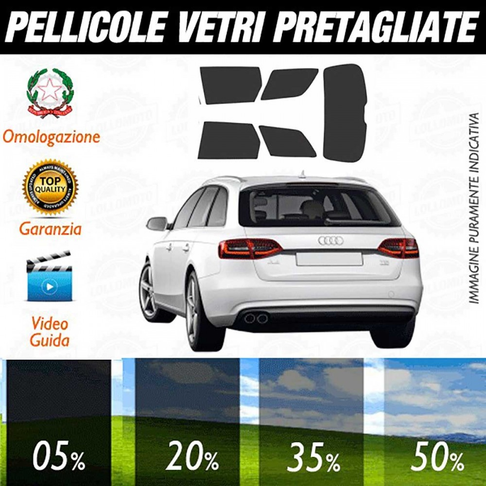 Audi A4 Avant 08-15 Pellicole Oscuramento Vetri Auto Pre
