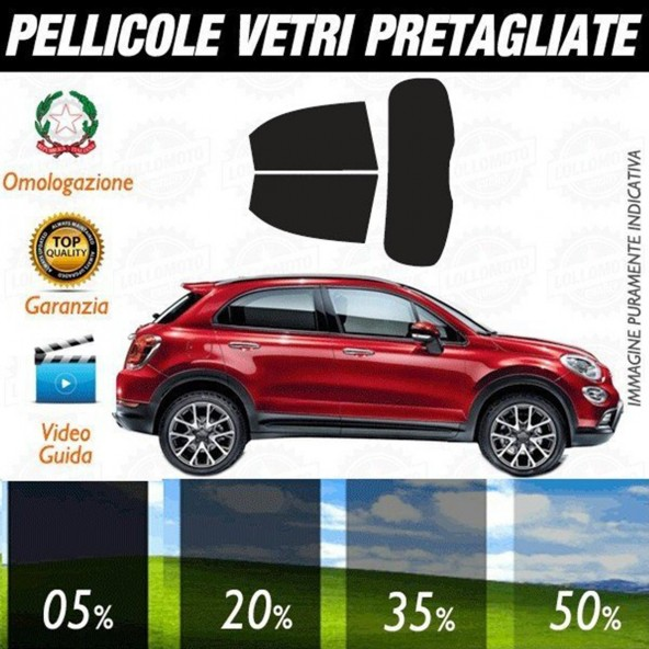 Fiat 500 X 5P dal 2015 ad OGGI Pellicole Oscuramento Vetri Posteriori Auto Pre Tagliate a Misura