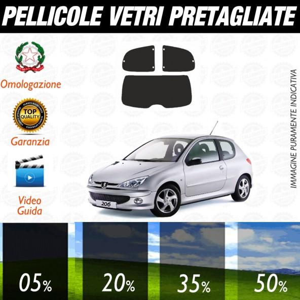 Peugeot 207 Sw dal 2007 ad OGGI Pellicole Oscuramento Vetri Auto Pre Tagliate a Misura Posteriore
