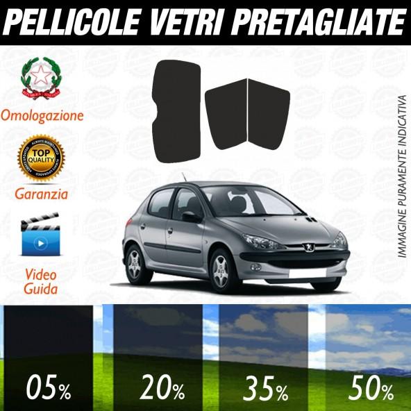 Peugeot 206 5P dal 1999 al 2010 Pellicole Oscuramento Vetri Auto Pre Tagliate a Misura Posteriore
