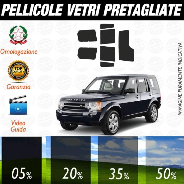 Land Rover Discovery dal 2015 ad OGGI Pellicole Oscuramento Vetri Auto Pre Tagliate a Misura