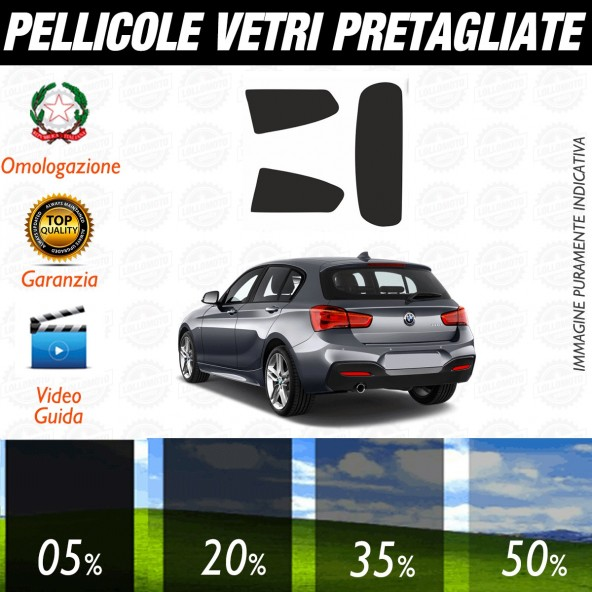 Bmw Serie 1 3p dal 2004 al 2012 Pellicole Oscuramento Vetri Auto Pre Tagliate a Misura