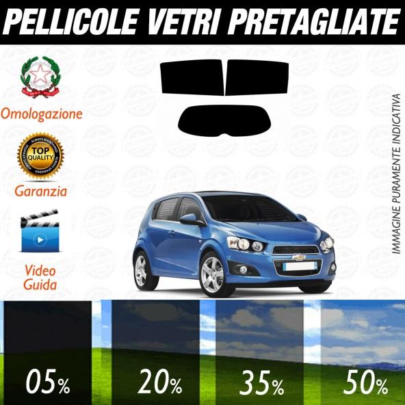 Chevrolet Aveo 5P dal 2011 ad OGGI Pellicole Oscuramento Vetri Posteriori Auto Pre Tagliate a Misura