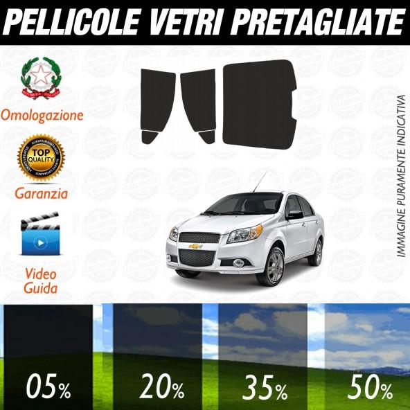 Chevrolet Aveo Berlina dal 2011 ad OGGI Pellicole Oscuramento Vetri Posteriori Auto Pre Tagliate a Misura