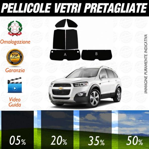 Chevrolet Captiva dal 2006 ad OGGI Pellicole Oscuramento Vetri Posteriori Auto Pre Tagliate a Misura