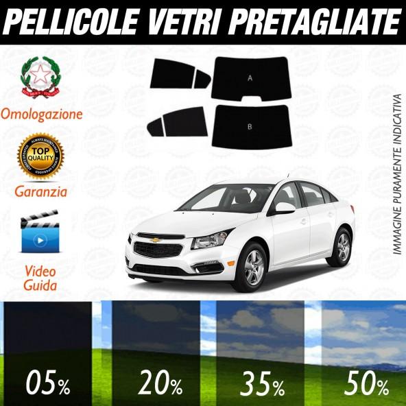 Chevrolet Cruze Berlina dal 2009 ad OGGI Pellicole Oscuramento Vetri Posteriori Auto Pre Tagliate a Misura