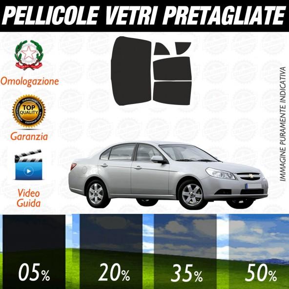 Chevrolet Epica dal 2006 al 2008 Pellicole Oscuramento Vetri Posteriori Auto Pre Tagliate a Misura