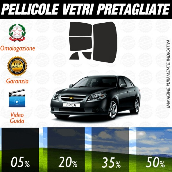Chevrolet Epica dal 2009 ad OGGI Pellicole Oscuramento Vetri Posteriori Auto Pre Tagliate a Misura