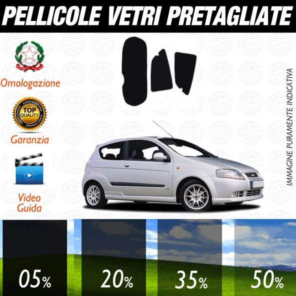Chevrolet Kalos 3P dal 2005 al 2008 Pellicole Oscuramento Vetri Posteriori Auto Pre Tagliate a Misura