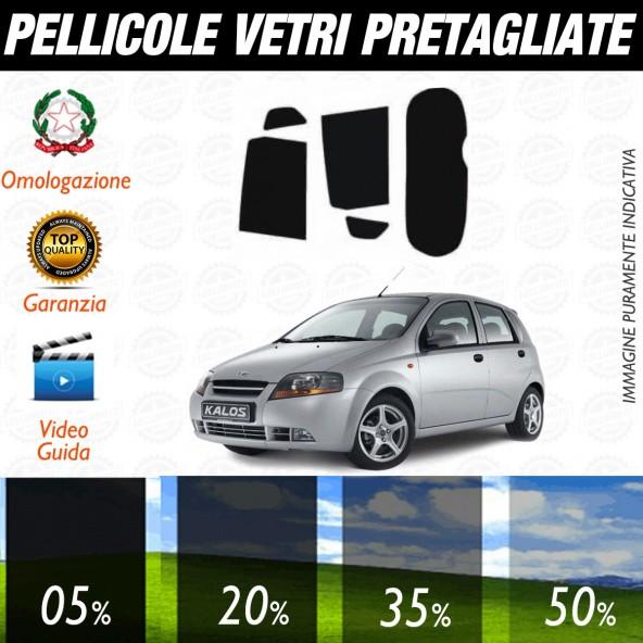 Chevrolet Kalos 5P dal 2005 al 2008 Pellicole Oscuramento Vetri Posteriori Auto Pre Tagliate a Misura