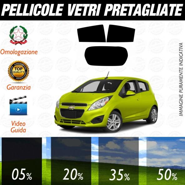 Chevrolet Spark 5P dal 2010 ad OGGI Pellicole Oscuramento Vetri Posteriori Auto Pre Tagliate a Misura