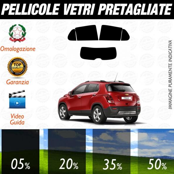 Chevrolet Trax dal 2013 ad OGGI Pellicole Oscuramento Vetri Posteriori Auto Pre Tagliate a Misura