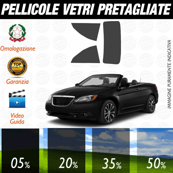 Chrysler 200 Cabrio dal 2011 ad OGGI Pellicole Oscuramento Vetri Posteriori Auto Pre Tagliate a Misura