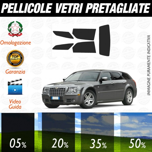 Chrysler 300 C Touring dal 2005 ad OGGI Pellicole Oscuramento Vetri Posteriori Auto Pre Tagliate a Misura