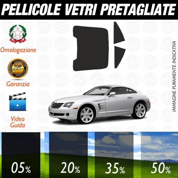 Chrysler Crossfire dal 2004 al 2008 Pellicole Oscuramento Vetri Posteriori Auto Pre Tagliate a Misura