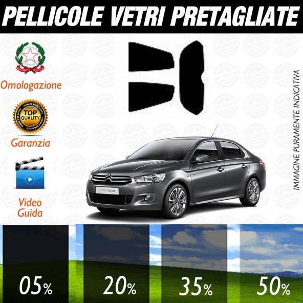 Citroen C Elisee dal 2013 ad OGGI Pellicole Oscuramento Vetri Posteriori Auto Pre Tagliate a Misura
