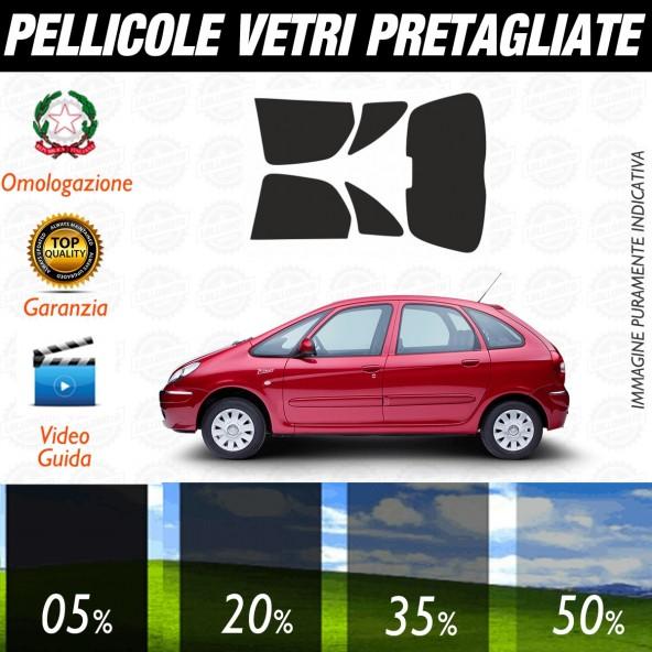 Citroen Xara Picasso dal 2001 al 2006 Pellicole Oscuramento Vetri Posteriori Auto Pre Tagliate a Misura
