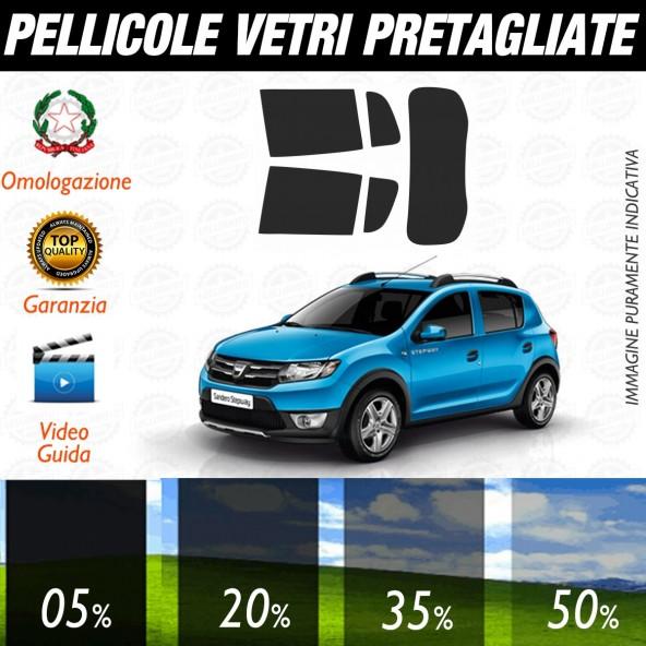 Dacia Sandero 5P dal 2013 ad OGGI Pellicole Oscuramento Vetri Posteriori Auto Pre Tagliate a Misura