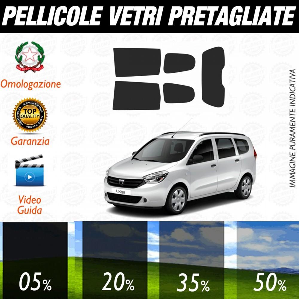 Dacia Lodgy dal 2012 ad OGGI Pellicole Oscuramento Vetri Posteriori Auto Pre Tagliate a Misura