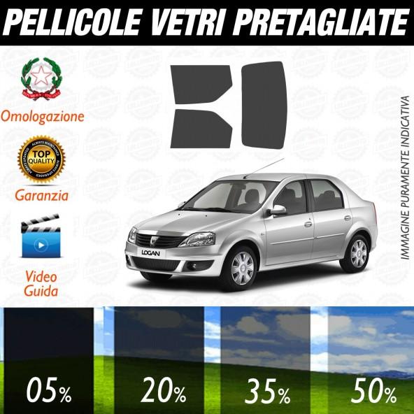 Dacia Logan Berlina dal 2007 al 2011 Pellicole Oscuramento Vetri Posteriori Auto Pre Tagliate a Misura