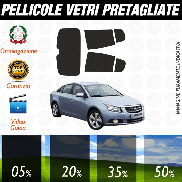 Daewoo Lacetti dal 2011 ad OGGI Pellicole Oscuramento Vetri Posteriori Auto Pre Tagliate a Misura