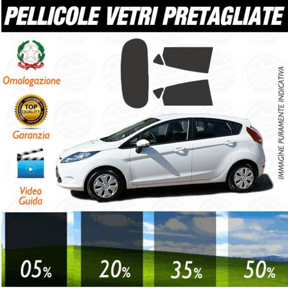 Ford Fiesta 5P dal 2009 al 2010 Pellicole Oscuramento Vetri Auto Pre Tagliate a Misura