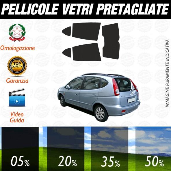 Daewoo Rezzo dal 2006 ad OGGI Pellicole Oscuramento Vetri Posteriori Auto Pre Tagliate a Misura