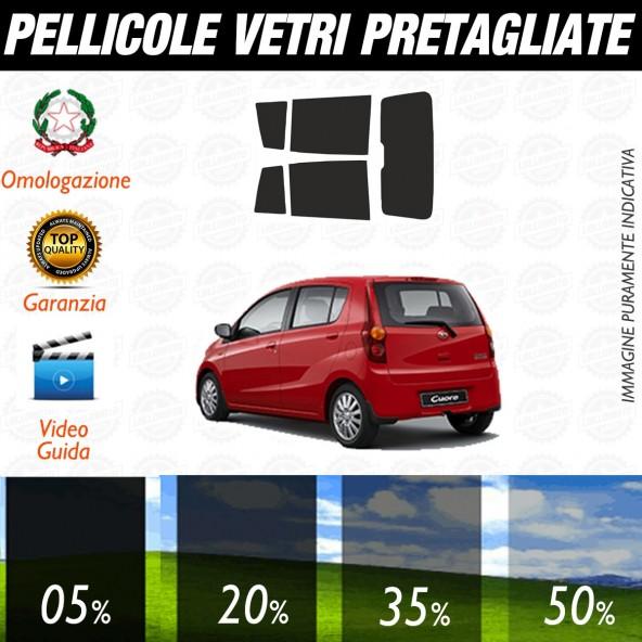 Daihatsu Cuore 5P dal 2006 ad OGGI Pellicole Oscuramento Vetri Posteriori Auto Pre Tagliate a Misura