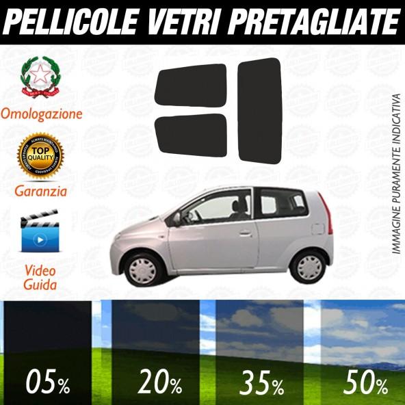Daihatsu Cuore 3P dal 2006 ad OGGI Pellicole Oscuramento Vetri Posteriori Auto Pre Tagliate a Misura
