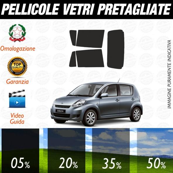 Daihatsu Sirion 5P dal 2007 al 2010 Pellicole Oscuramento Vetri Posteriori Auto Pre Tagliate a Misura