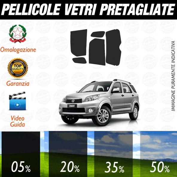 Daihatsu Terios 5P dal 1998 al 2006 Pellicole Oscuramento Vetri Posteriori Auto Pre Tagliate a Misura