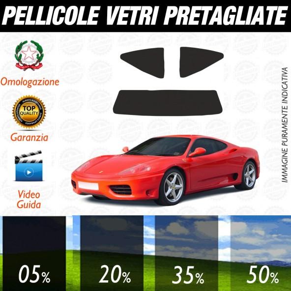 Ferrari 360 Modena dal 1999 al 2005 Pellicole Oscuramento Vetri Posteriori Auto Pre Tagliate a Misura