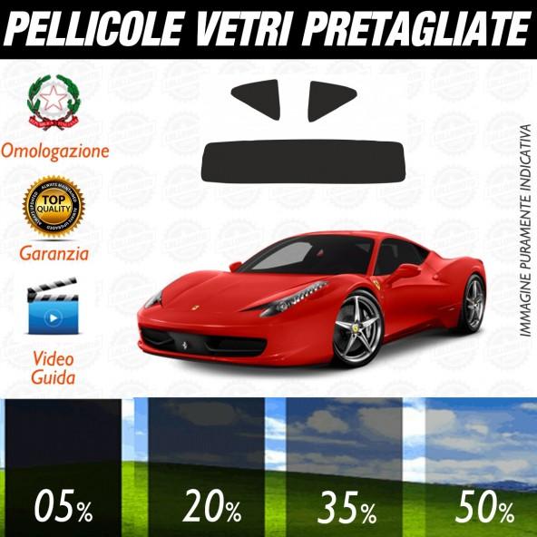 Ferrari 458 Italia dal 2010 al 2011 Pellicole Oscuramento Vetri Posteriori Auto Pre Tagliate a Misura