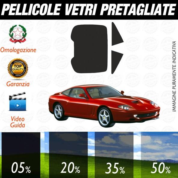 Ferrari 550 Maranello dal 1996 al 2001 Pellicole Oscuramento Vetri Posteriori Auto Pre Tagliate a Misura