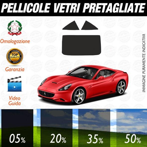Ferrari California dal 2009 al 2011 Pellicole Oscuramento Vetri Posteriori Auto Pre Tagliate a Misura