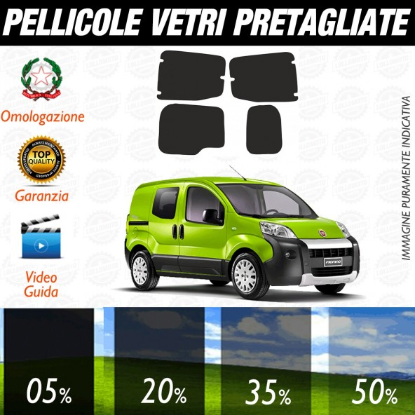 Fiat Fiorino dal 2008 al 2009 Pellicole Oscuramento Vetri Posteriori Auto Pre Tagliate a Misura