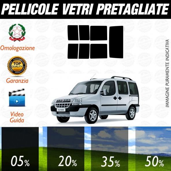 Fiat Doblò dal 2002 al 2007 Pellicole Oscuramento Vetri Posteriori Auto Pre Tagliate a Misura