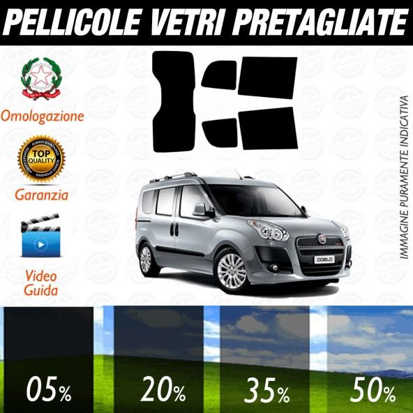 Fiat Doblò dal 2010 al 2014 Pellicole Oscuramento Vetri Posteriori Auto Pre Tagliate a Misura