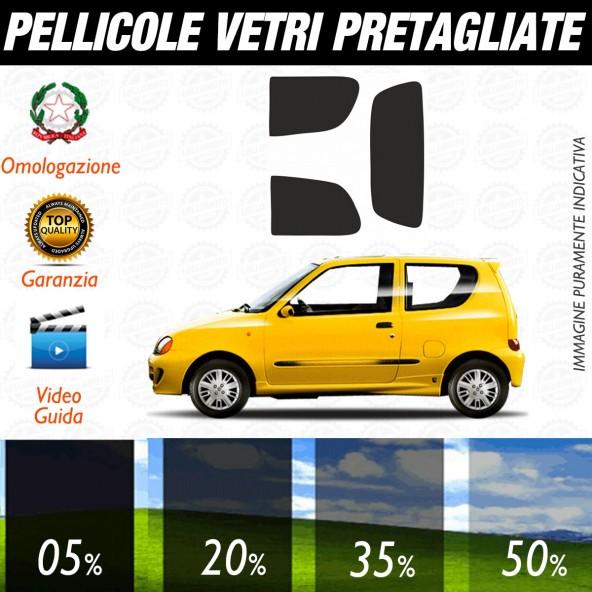 Fiat Seicento 3P dal 1998 al 2004 Pellicole Oscuramento Vetri Posteriori Auto Pre Tagliate a Misura