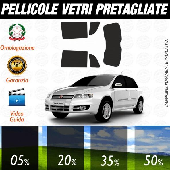 Fiat Stilo 5P dal 2002 al 2006 Pellicole Oscuramento Vetri Posteriori Auto Pre Tagliate a Misura