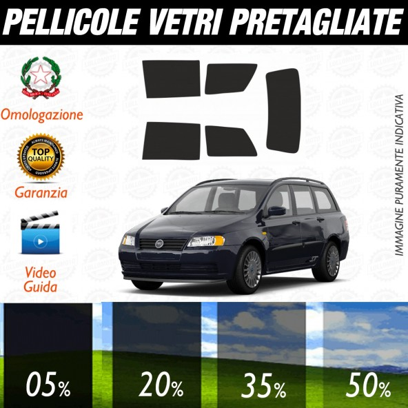 Fiat Stilo Sw dal 2003 al 2006 Pellicole Oscuramento Vetri Posteriori Auto Pre Tagliate a Misura