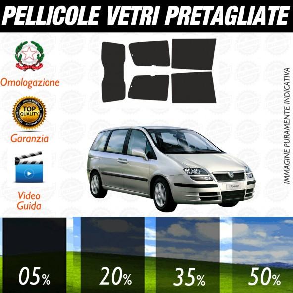 Fiat Ulisse dal 2003 al 2006 Pellicole Oscuramento Vetri Posteriori Auto Pre Tagliate a Misura