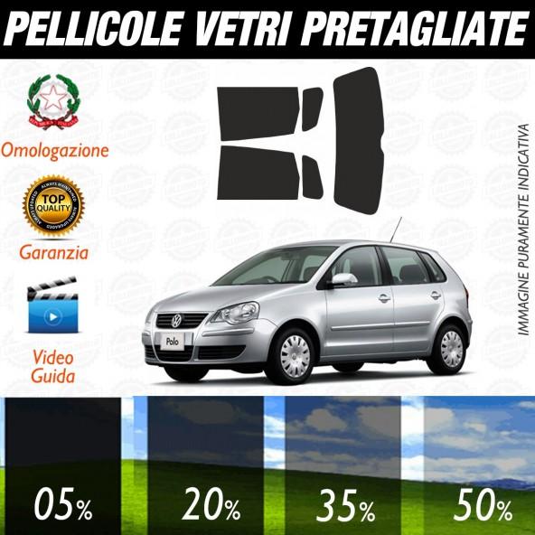 Volkswagen Polo 5P dal 2002 al 2008 Pellicole Oscuramento Vetri Posteriori Auto Pre Tagliate a Misura